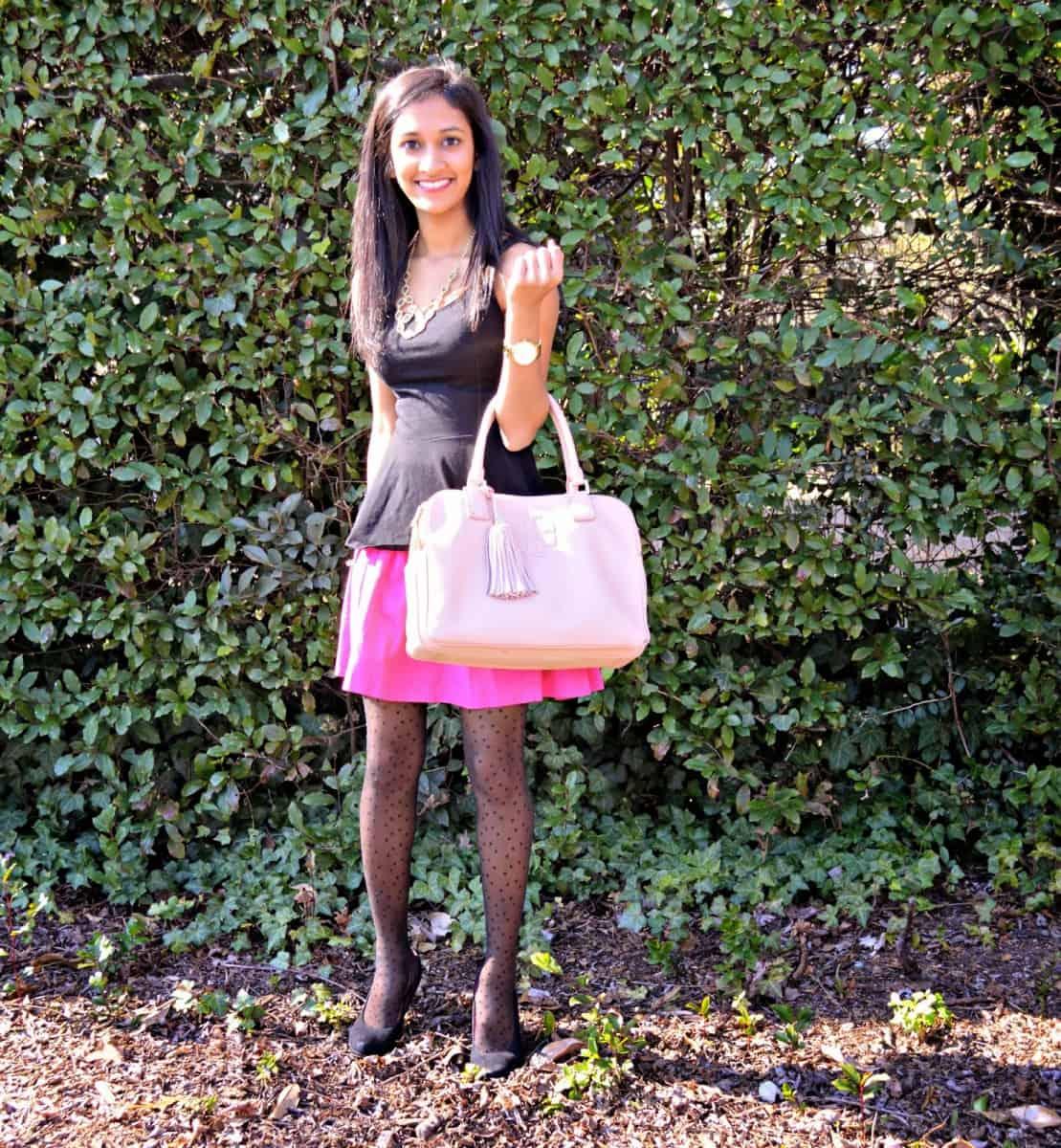 Pink Skirt and Peplum