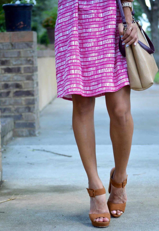 saddle bag and suede block heels