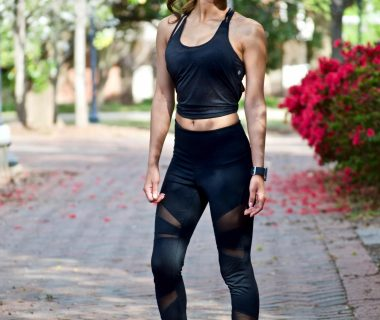 black workout outfit