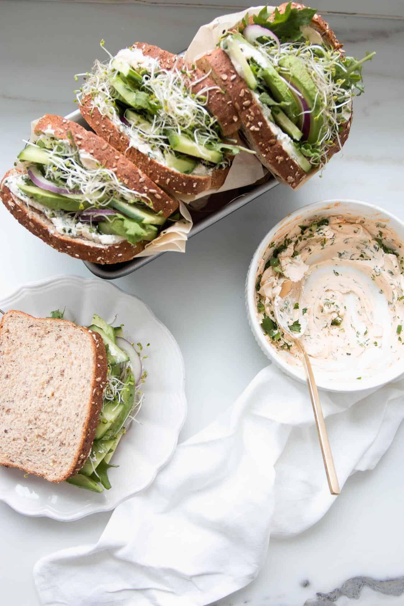 green sandwich recipes