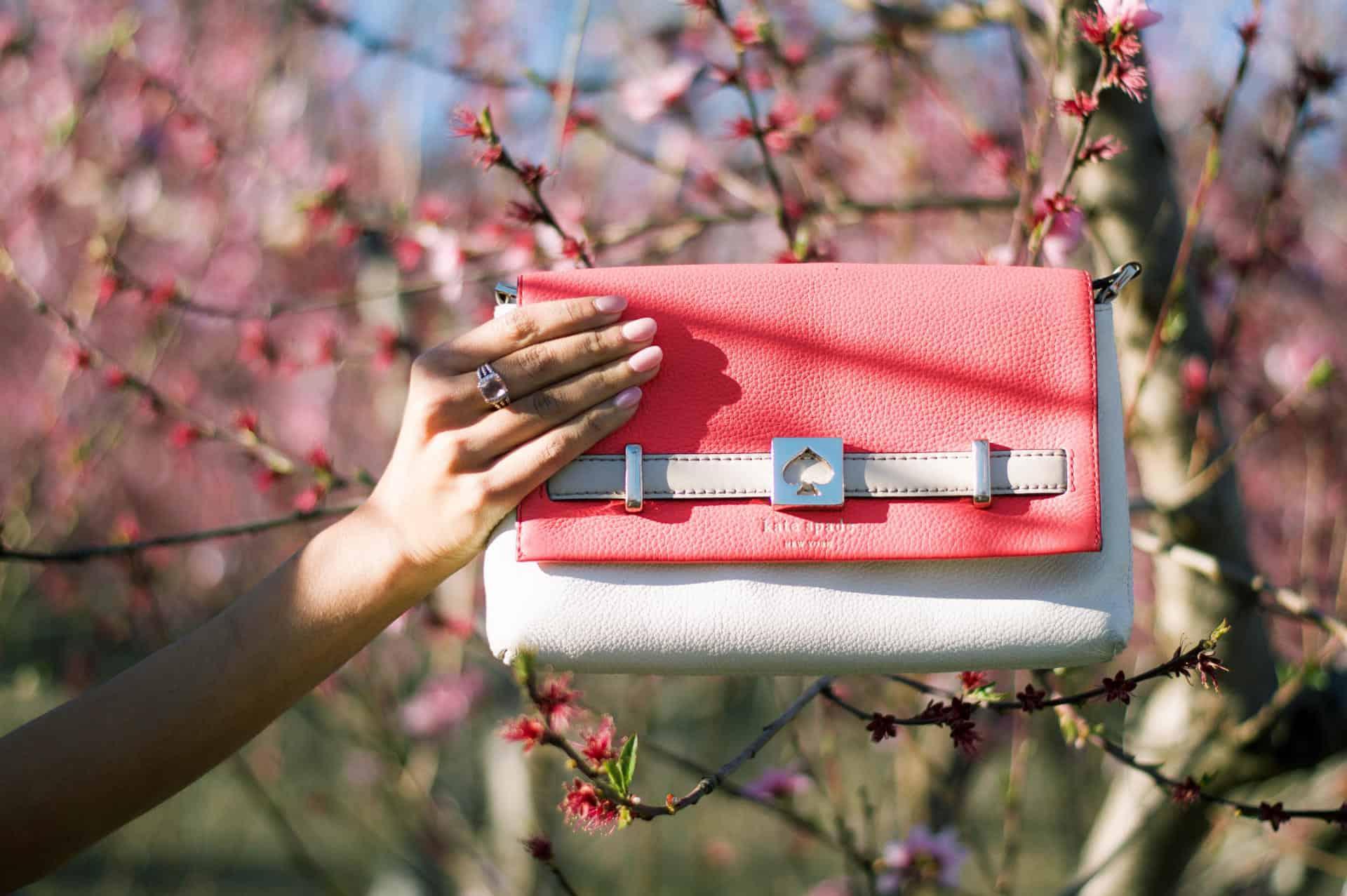 pink spring clutch