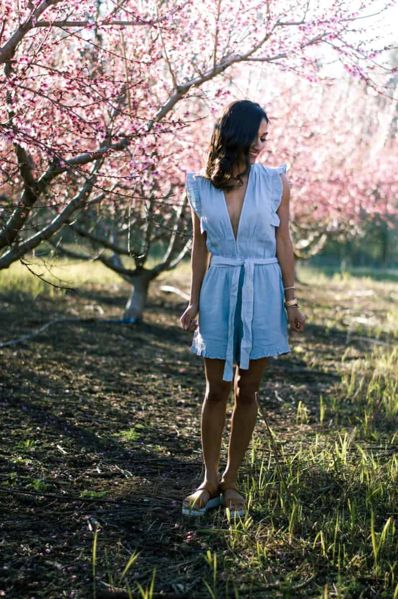 chambray rompers