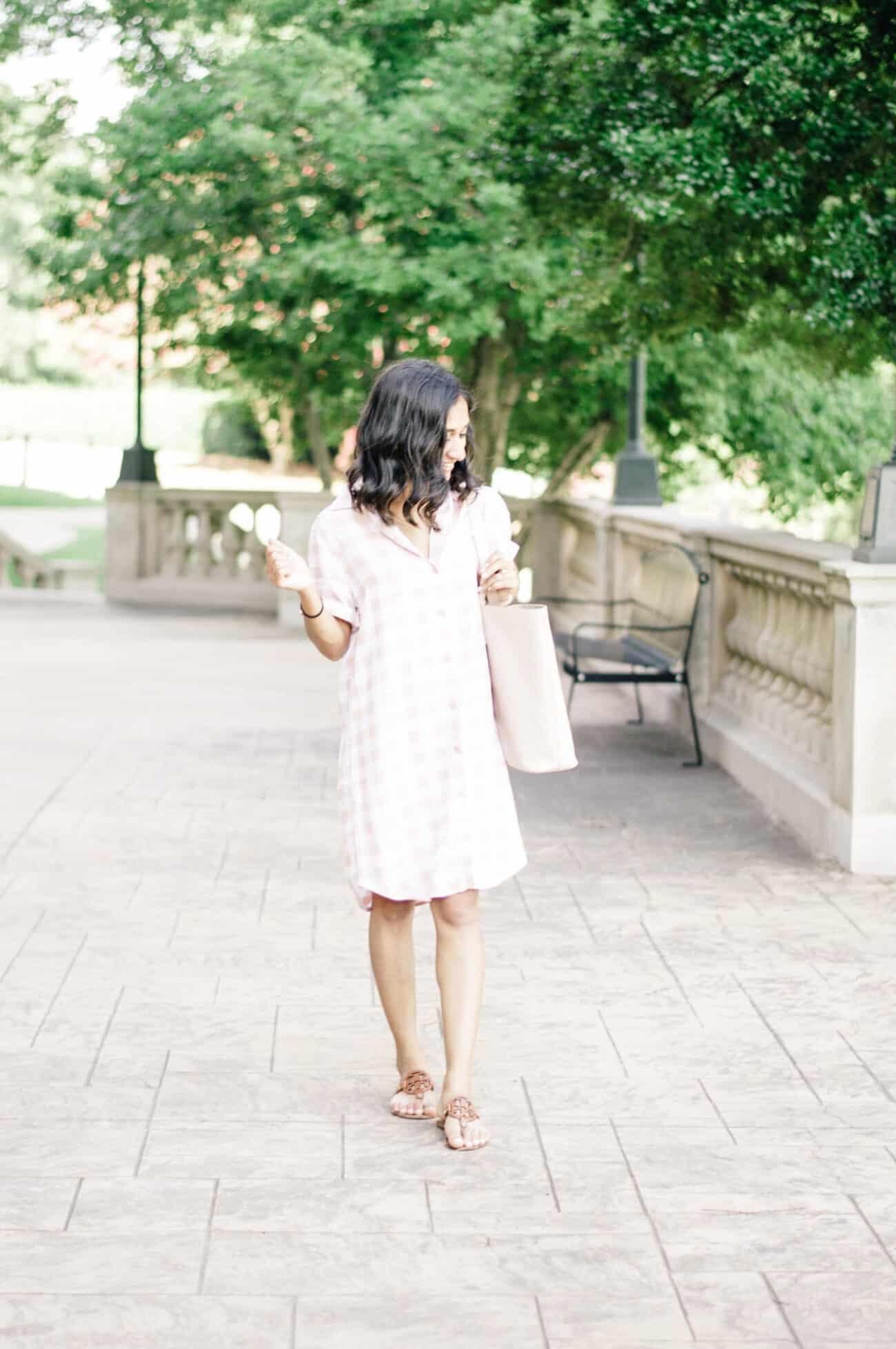 Blush Gingham Dress // Pre-Fall Plaid