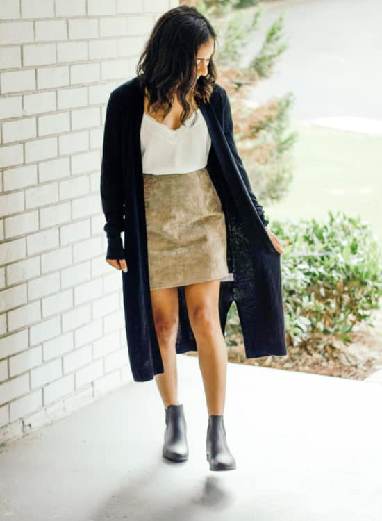Suede Skirt Outfit Inspiration and Styling Tips