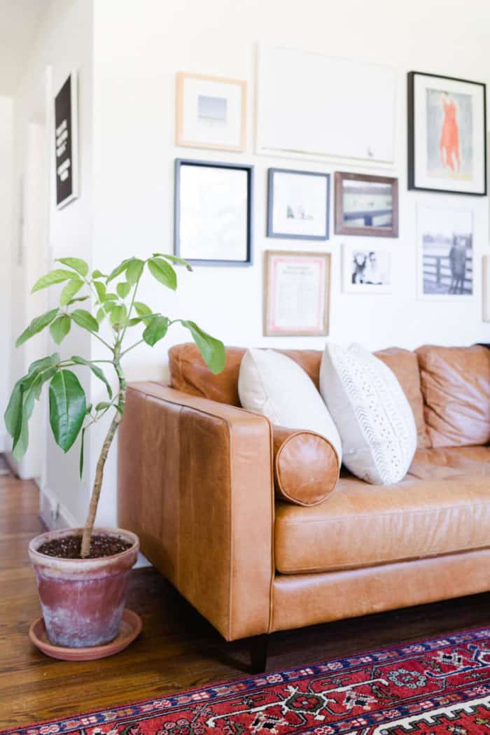 Brown Leather Couch | Living Room Inspiration