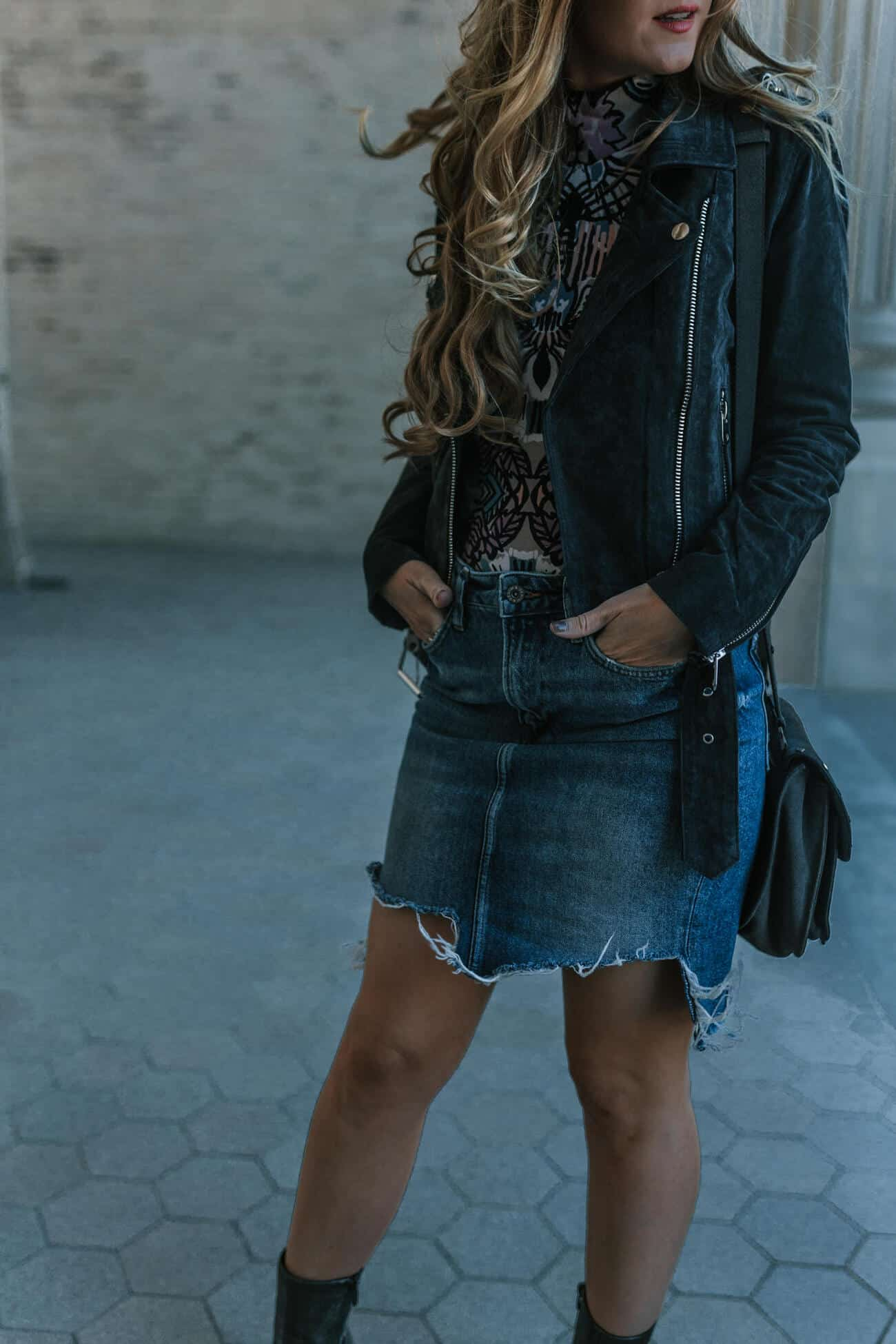 Denim Skirt for Fall