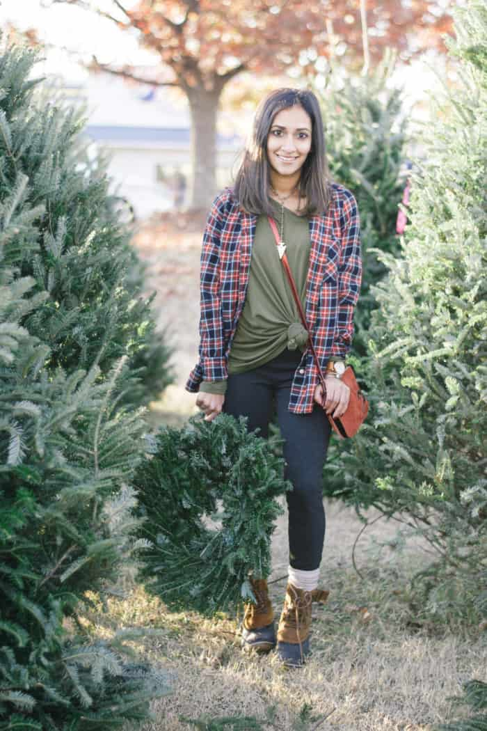The Perfect Christmas Tree Picking Outfit