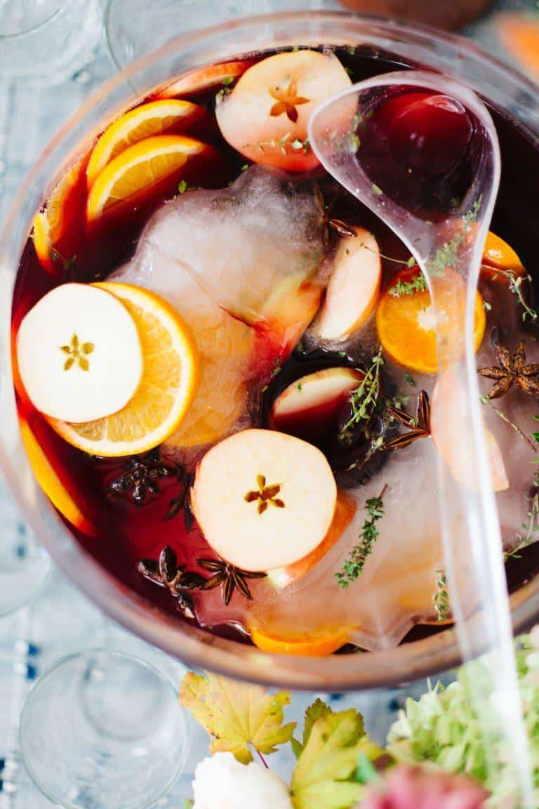 thanksgiving punch recipes