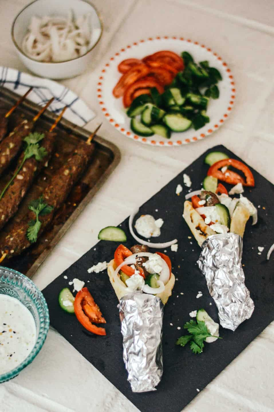 Greek Turkey Gyro Recipe with Tzatziki