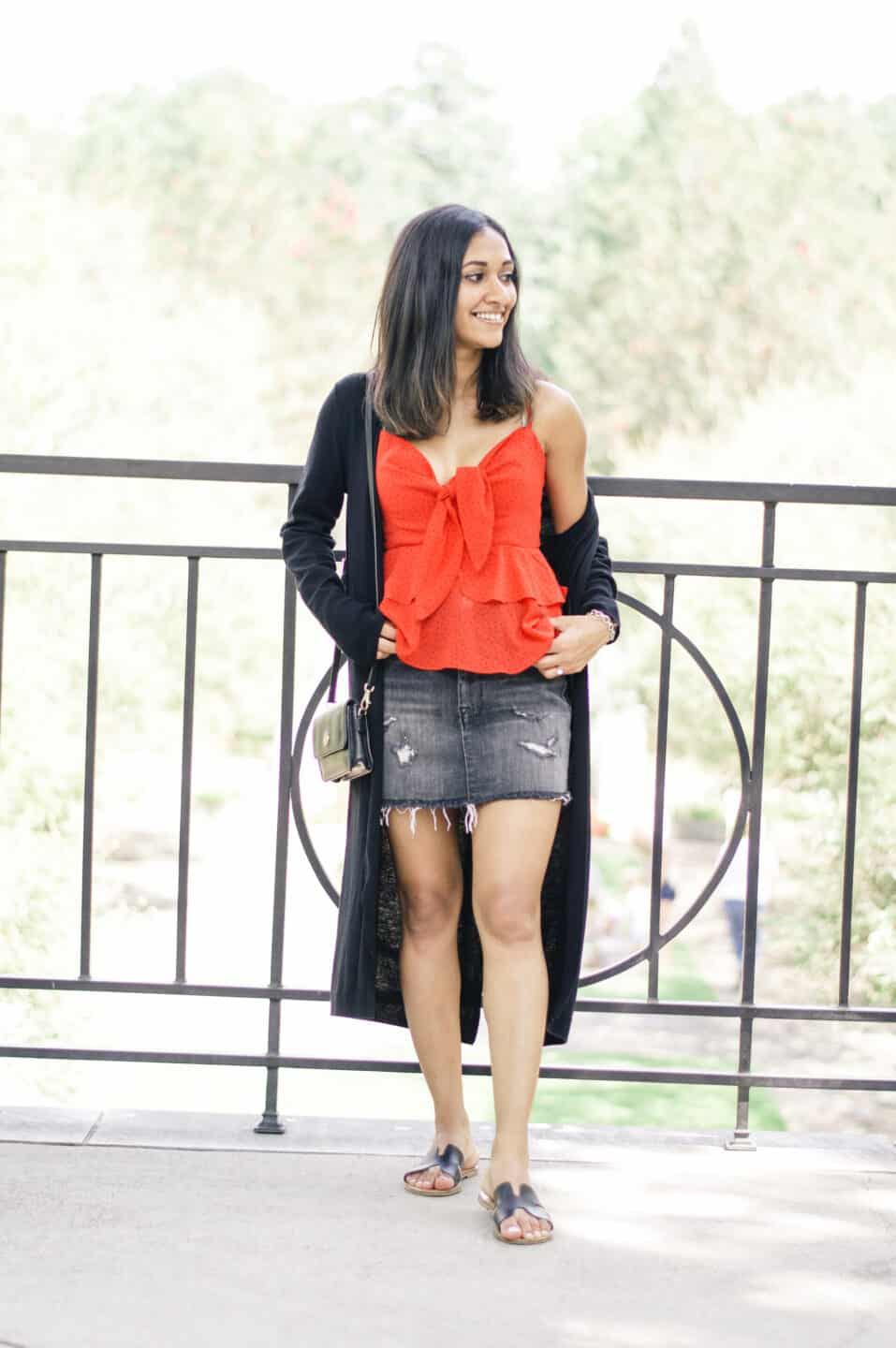 fall mini skirt outfits