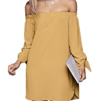 Casual Off The Shoulder Loose Long Dress