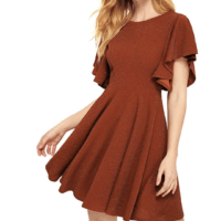 Stretchy A-Line Swing Flared Skater Dress