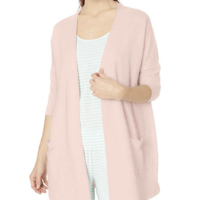 Lightweight Terry Open-Front Cardigan