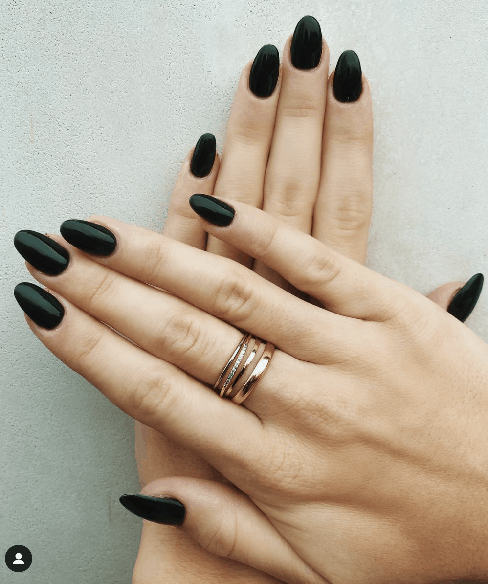 10 Popular emerald Fall Nail Colors for 2019