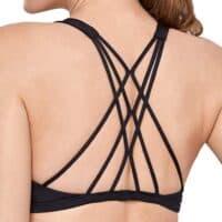 CRZ YOGA Women's Active Wear Sports Bra Padded Cross Back Strappy Workout Yoga Bra Tops