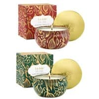 LA JOLIE MUSE Scented Candles Set 2 Pumpkin Cinnamon & Cedarwood Fir, Fall Candles,13oz Natural Soy Wax, Winter Gift Collection