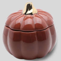 3.9oz Ceramic Pumpkin Jar Candle - Threshold™