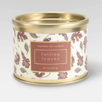4.1oz Tin Jar Candle Falling Leaves - Threshold™