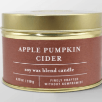 4.1oz Tin Jar Candle Apple Pumpkin Cider - Threshold™