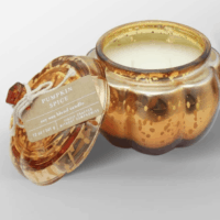 12oz Mercury Glass Pumpkin Jar 2-Wick Candle Pumpkin Spice - Threshold™
