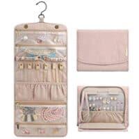 Travel Jewelry Organizer Roll Foldable Jewelry Case