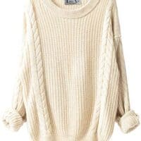 Cashmere Oversized Loose Knitted Crew Neck Long Sleeve Winter Warm Wool Pullover Dresses
