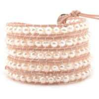 Freshwater Pearls on Blush Pink