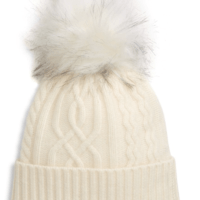 Cable-Knit Cashmere Pom Beanie