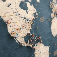 Push Pin Map / Personalized Travel Map