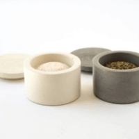 Concrete Salt and Pepper Cellars with Lids