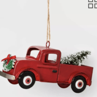 Truck Christmas Ornament Red