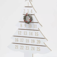 White Wash Christmas Tree Advent Calendar