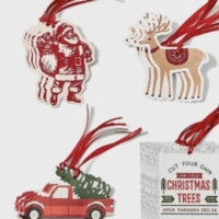 Club Set Red/Green Santa/Reindeer/Truck Christmas Gift Tags