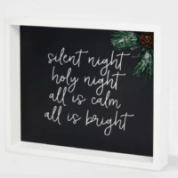 Silent Night Shadow Box Christmas Sign