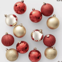 100ct Christmas Ornament Set Red and Gold