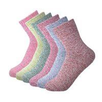 6 Pairs Socks Winter Casual Wool Warm Cotton