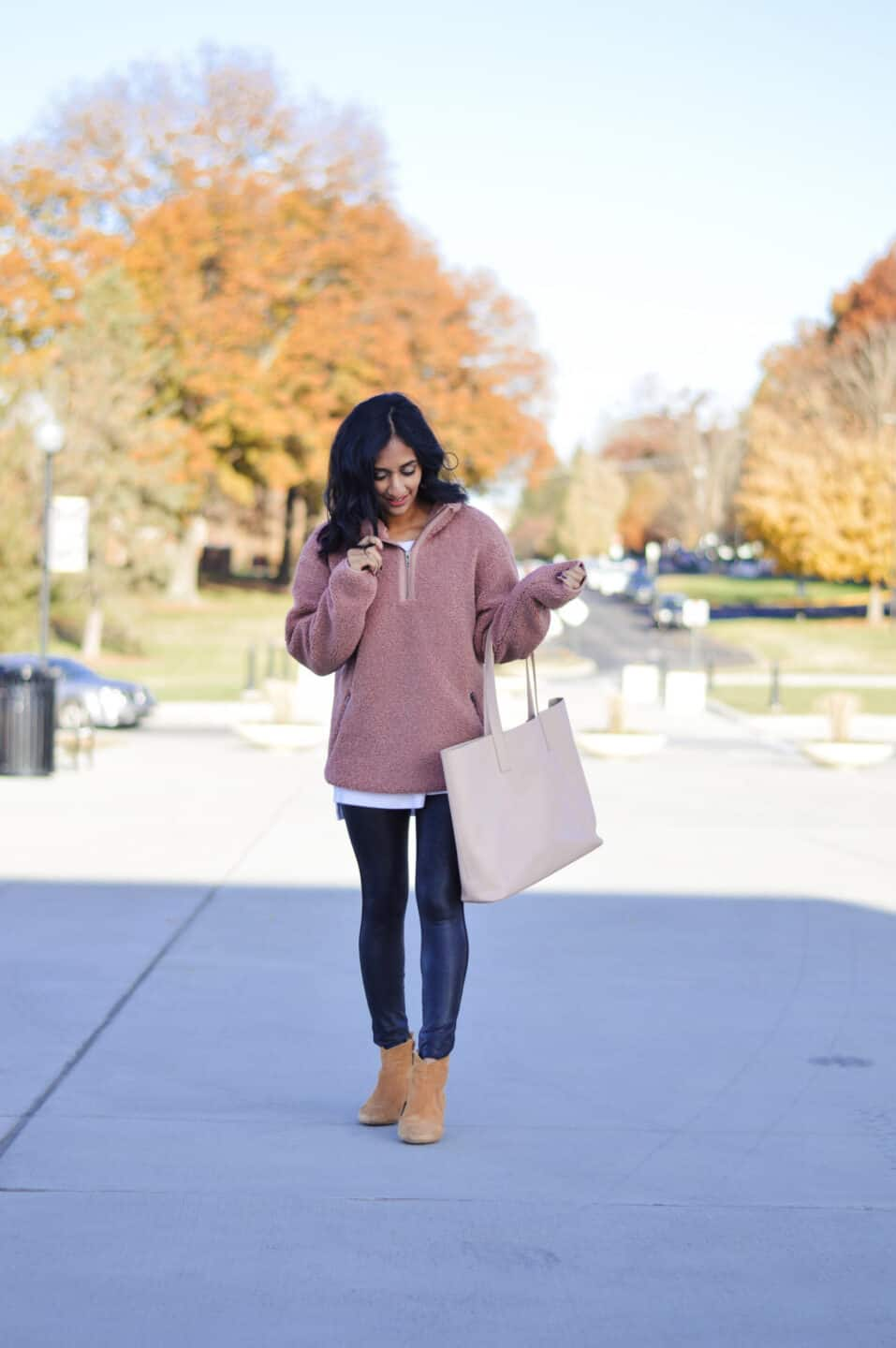 Cozy Sherpa Pullover Outfit