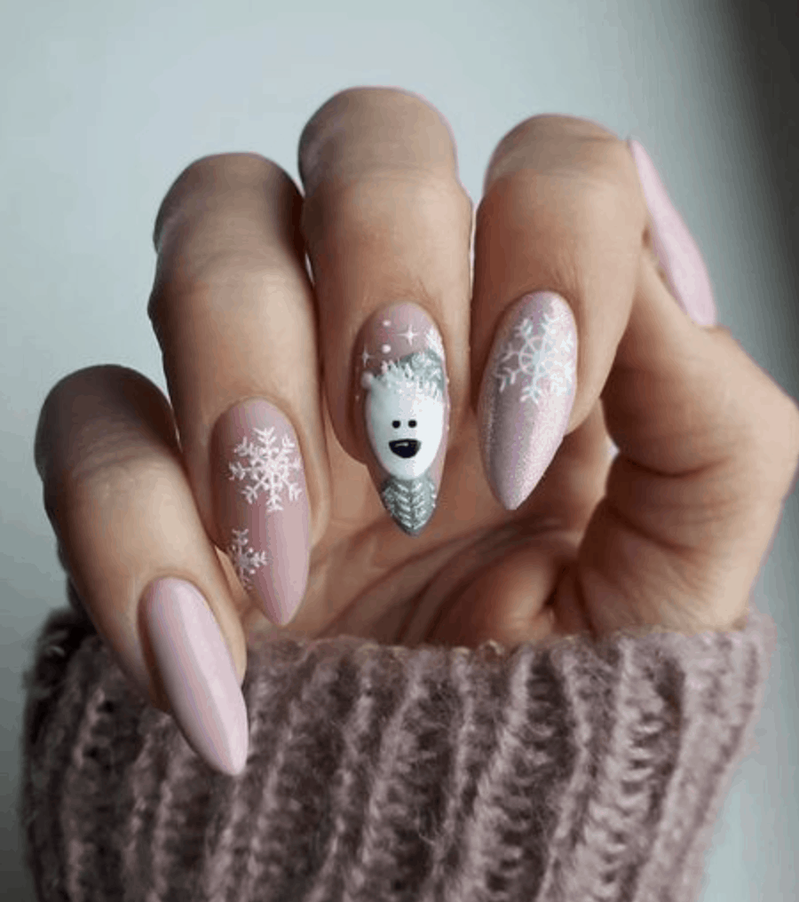 Polar Bear Holiday Nail Ideas for 2019