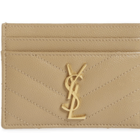 YSL Monogram Quilted Leather Credit Card Case