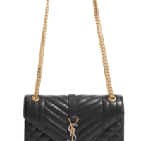 YSL Medium Monogram Quilted Leather Shoulder Bag