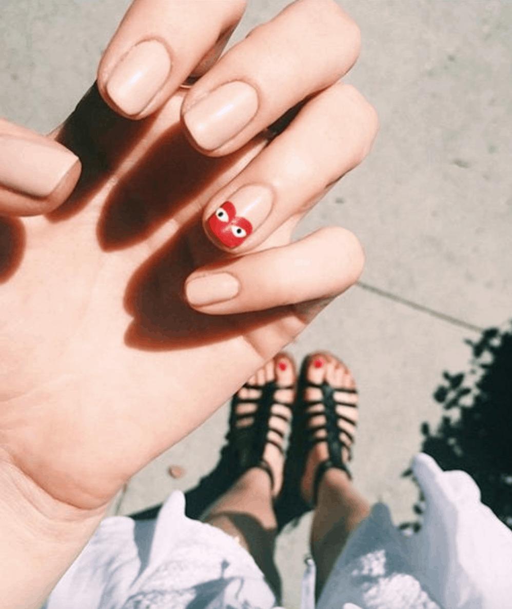 Comme des Garçons Inspired Nails