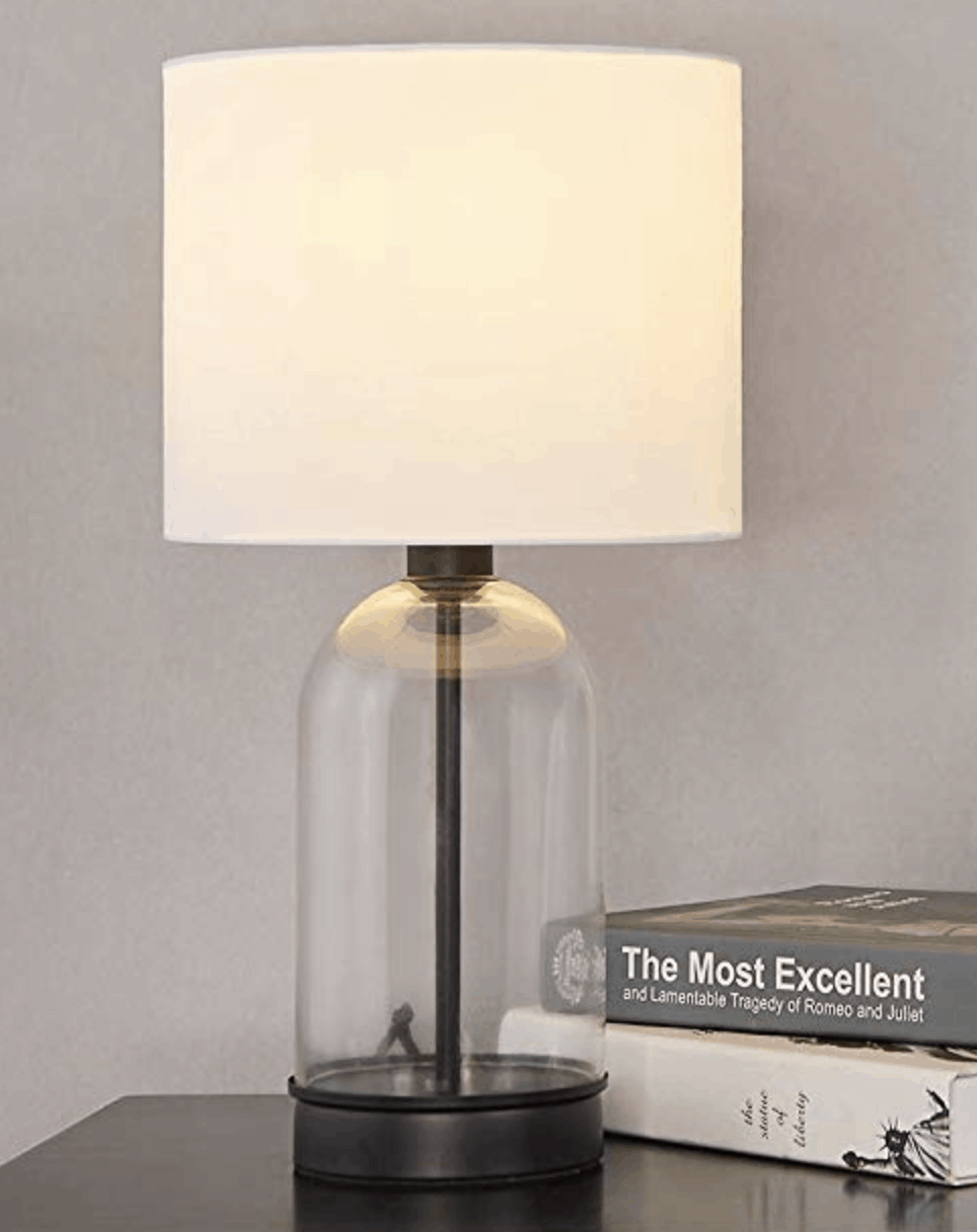 Chic clear Lamp // 15 Gorgeous Table Lamps under $100