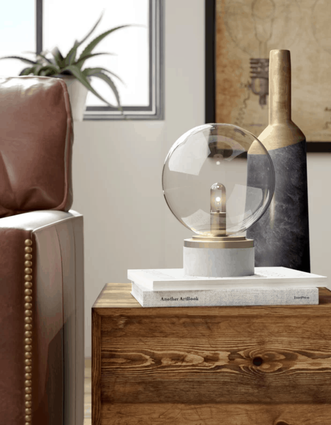 Pretty Globe Lamp // 15 Gorgeous Table Lamps under $100