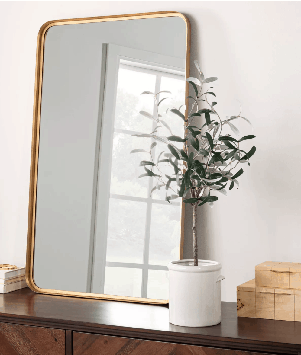 Golden mirror decor // The Studio McGee Target Collection is a Design Dream Come True