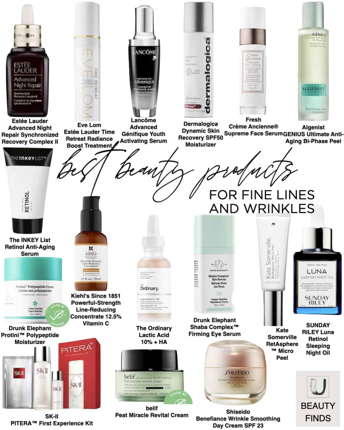 Skincare Best Sellers for Fine Lines and Wrinkles