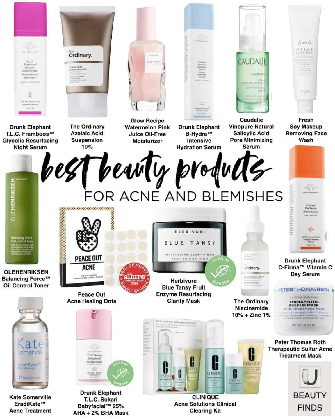 Skincare Best Sellers for Acne and Blemishes