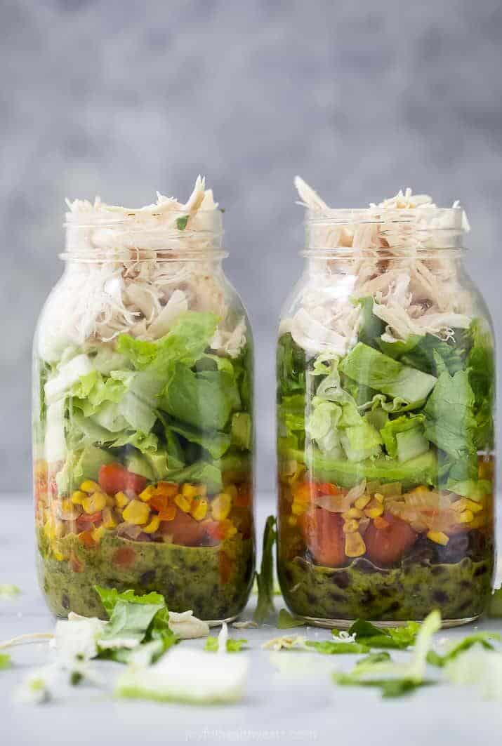 Mason jar meals for meal prepping