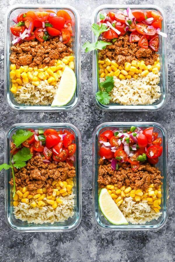 Taco bowl for meal prep