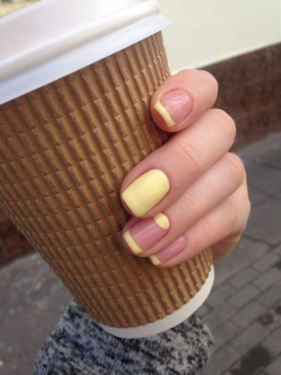sunset yellow nail polish