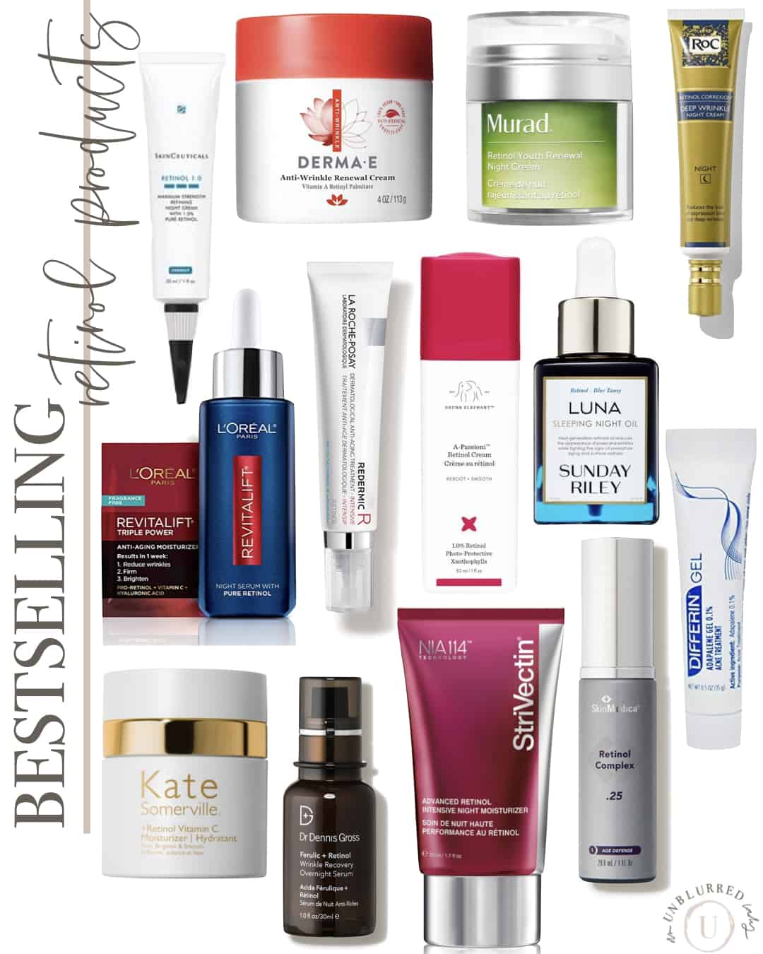 best selling retinol products for youthful skin